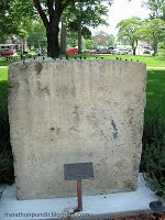 Section of the Berlin Wall, Reagan Peace Garden, Eureka College