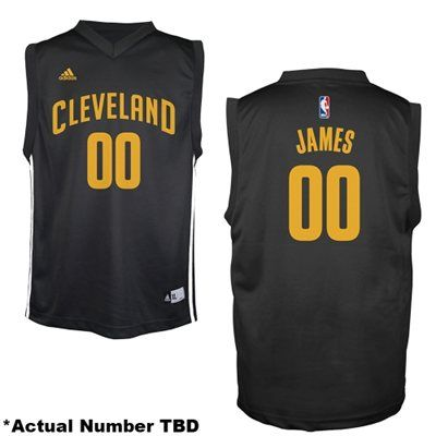 cdd1a1fdafef ... clearance lebron james cleveland cavaliers adidas youth fashion replica  jersey black 44ee8 da126