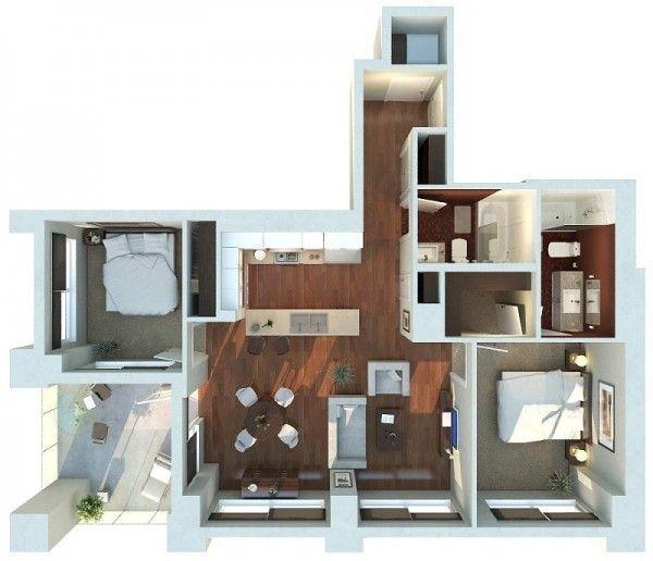 2 Bedroom Apartment House Plans Apartment Plans House Plans Floor Plan Design