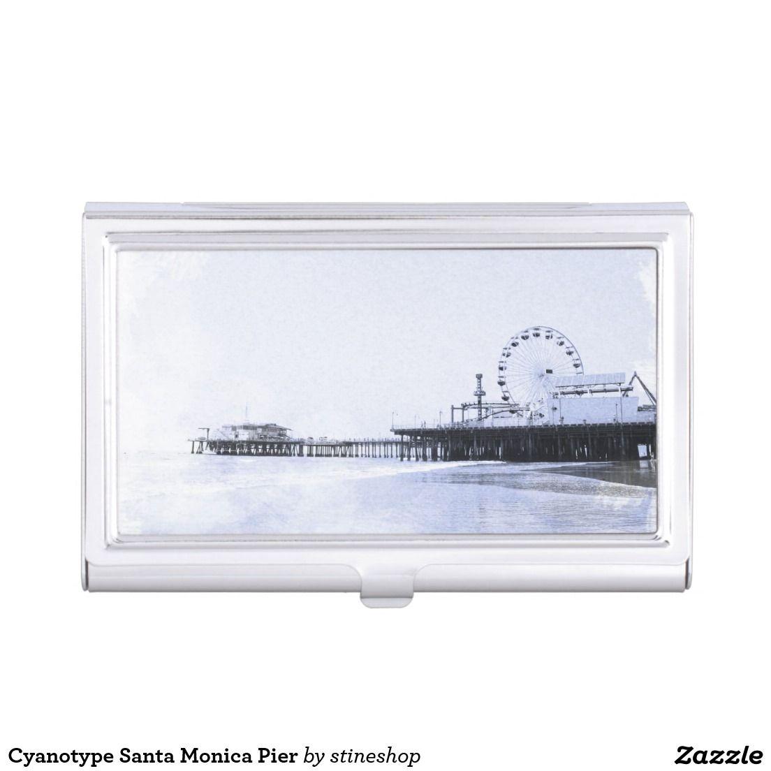 Cyanotype santa monica pier business card holder zizzling zazzle cyanotype santa monica pier business card holder colourmoves