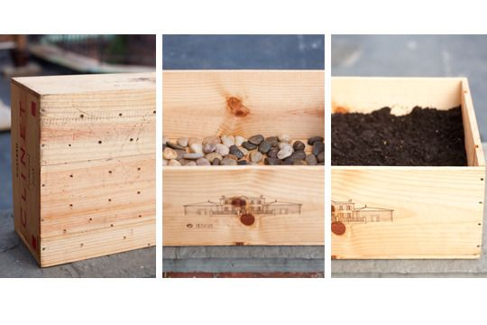 How To Create A Repurposed Wine Crate Planter Wooden