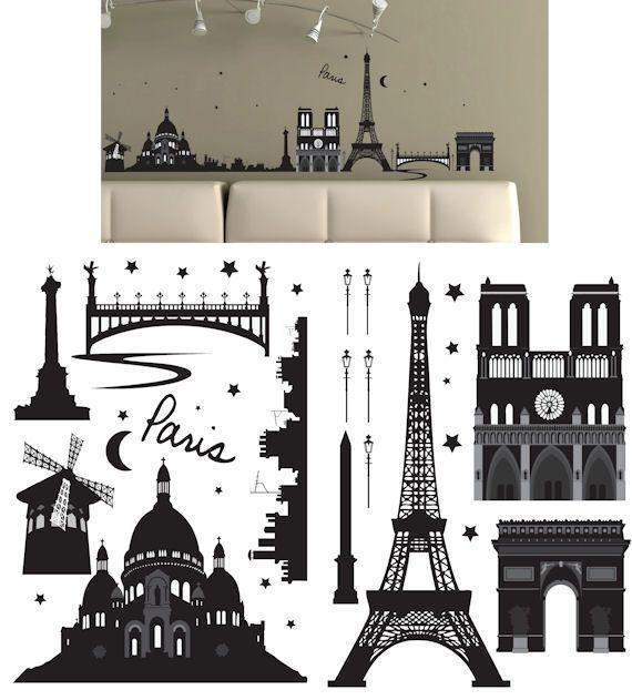 Art Applique Paris Wall Sticker   Wall Sticker Outlet