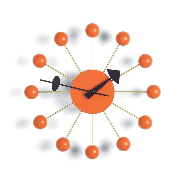 Ball Clock Orange Product Lust Reloj Retro Relojes De Pared Interiores De Oficina