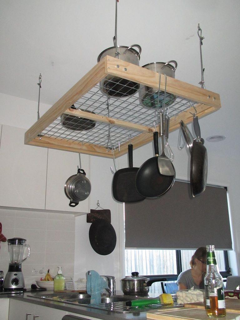 pot rack diy project pot rack kitchens and hanging pot racks. Black Bedroom Furniture Sets. Home Design Ideas