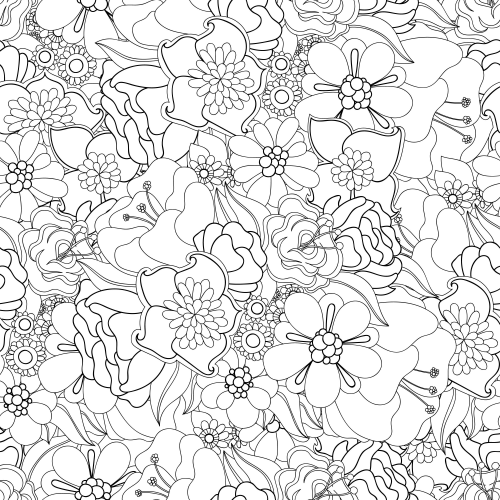 Advanced Flower Coloring Pages 10 Kidspressmagazine Com Flower Coloring Pages Online Coloring Pages Abstract Coloring Pages