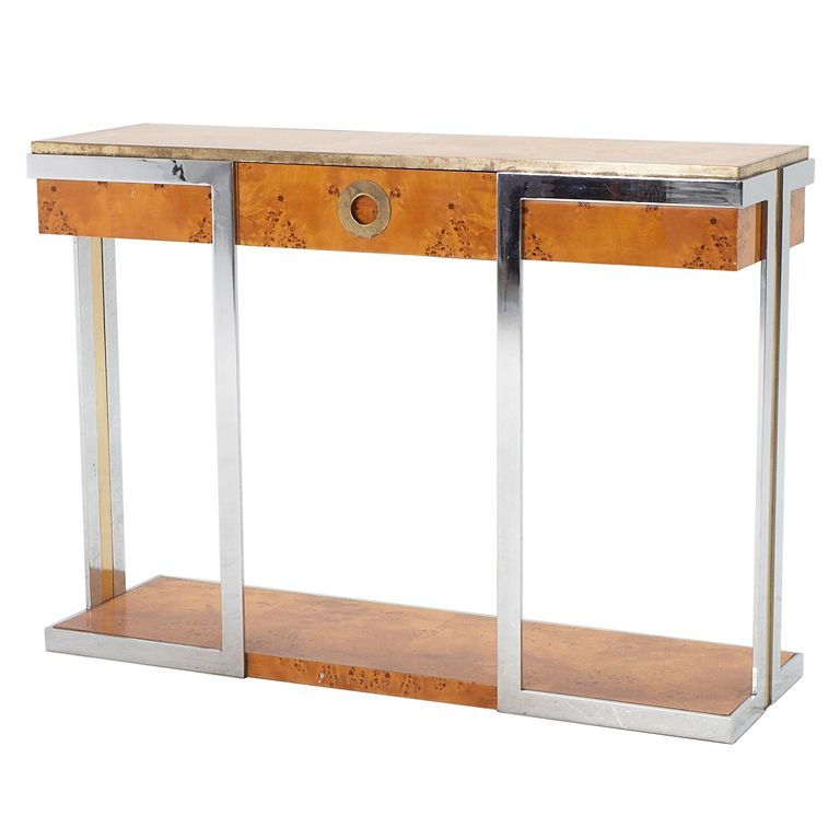 Mappa burlwood console by willy rizzo also credenza and for Mobili willy rizzo