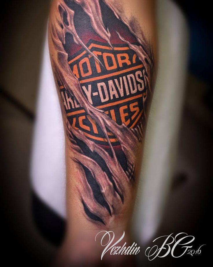 Harley davidson tattoo tatoos davidson harley