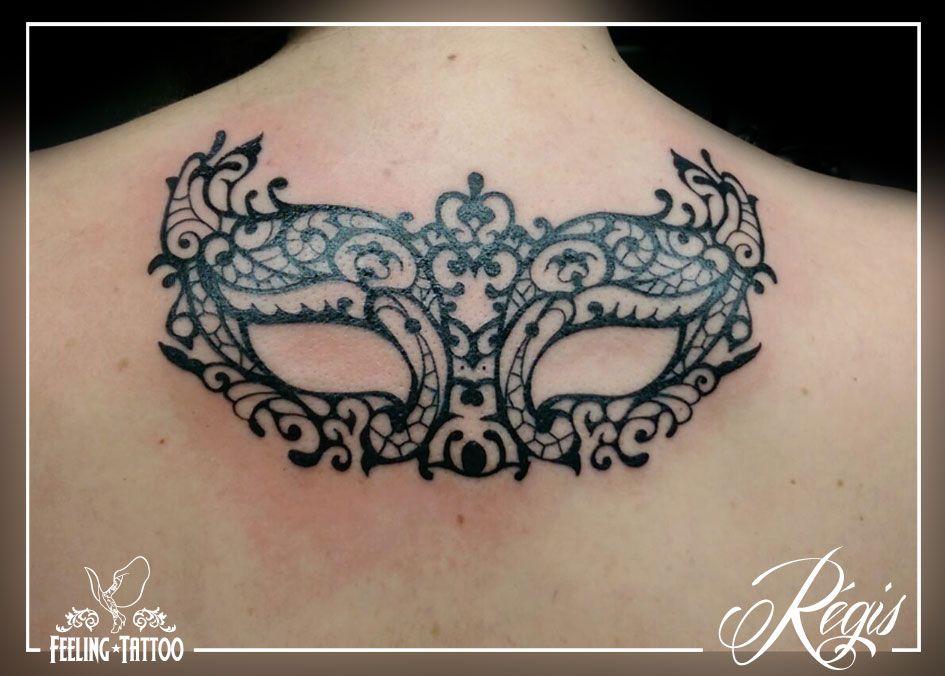 tatouage masque en dentelles dans le haut du dos tatouage pinterest recherche. Black Bedroom Furniture Sets. Home Design Ideas