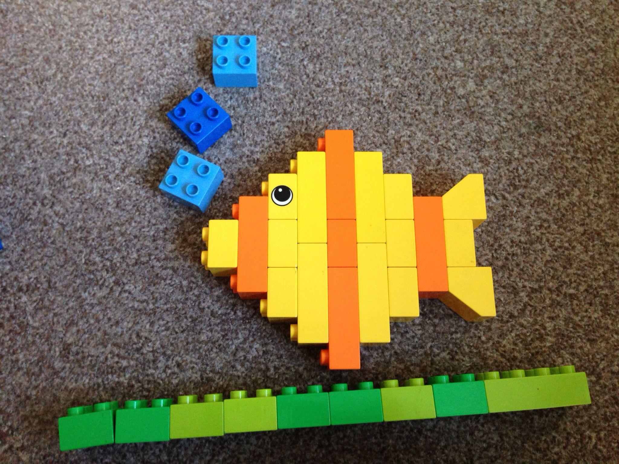 Duplo fish lego bauen autos pinterest lego - Lego duplo ideen ...