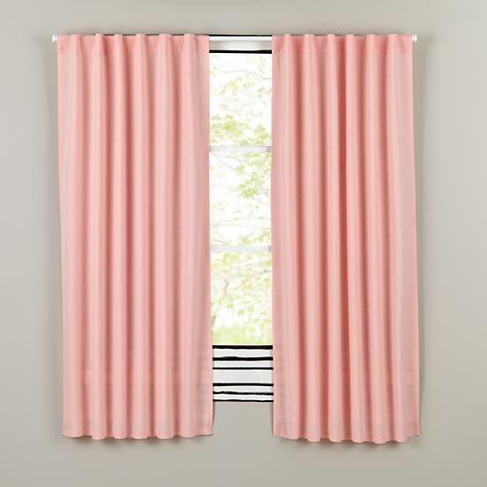 96 Fresh Linen Curtain Pink
