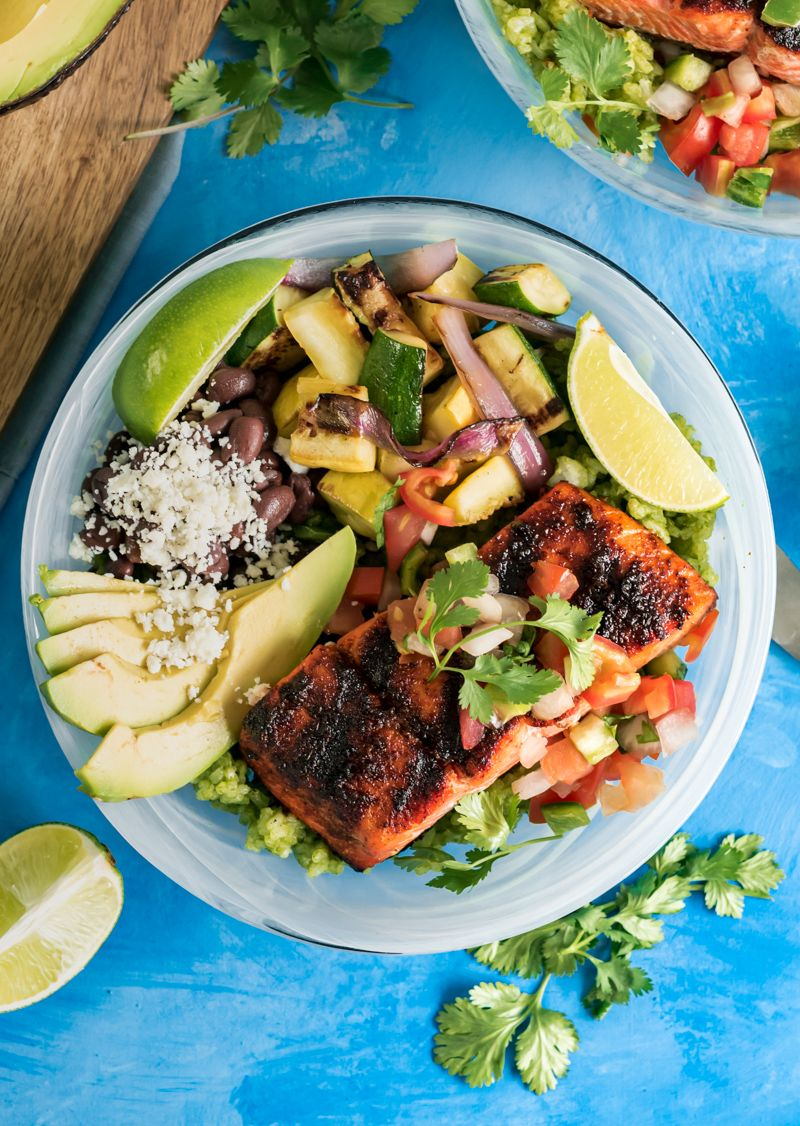 Chili Lime Grilled Sockeye Salmon Rice Bowls Recipe With Images Salmon Rice Bowl Salmon