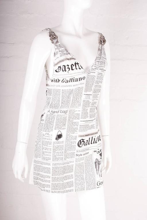 John Galliano Iconic Newspaper Print Dress Newspaper Print Dress Fashion Fashion Wear