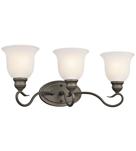 Photo of Tanglewood 3 Light 23 inch Olde Bronze Vanity Light Wall Light in Standard