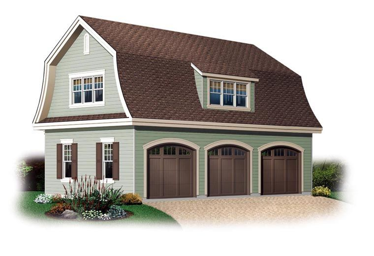 3 Car Garage Plan Number 64821 #garageplans