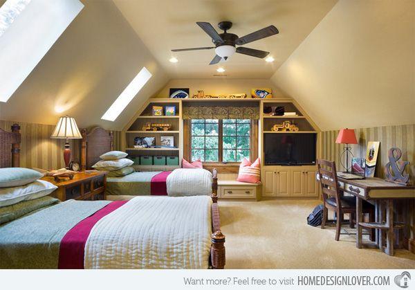 15 Attic Rooms Converted Into Simple Yet Elegant Bedrooms Home Design Lover Bonus Room Design Remodel Bedroom Attic Bedroom Designs