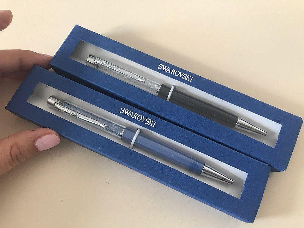 2018 Swarovski pen met gift logo box case Crystal balpen Diamant op de top  Swarovski elements crystal pen 1041a83c8f0a