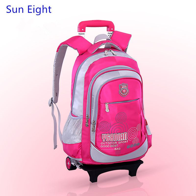 9be085f4e5a9 Sun Eight kids trolley school bag wheels school bags for boys backpack girl school  backpack for