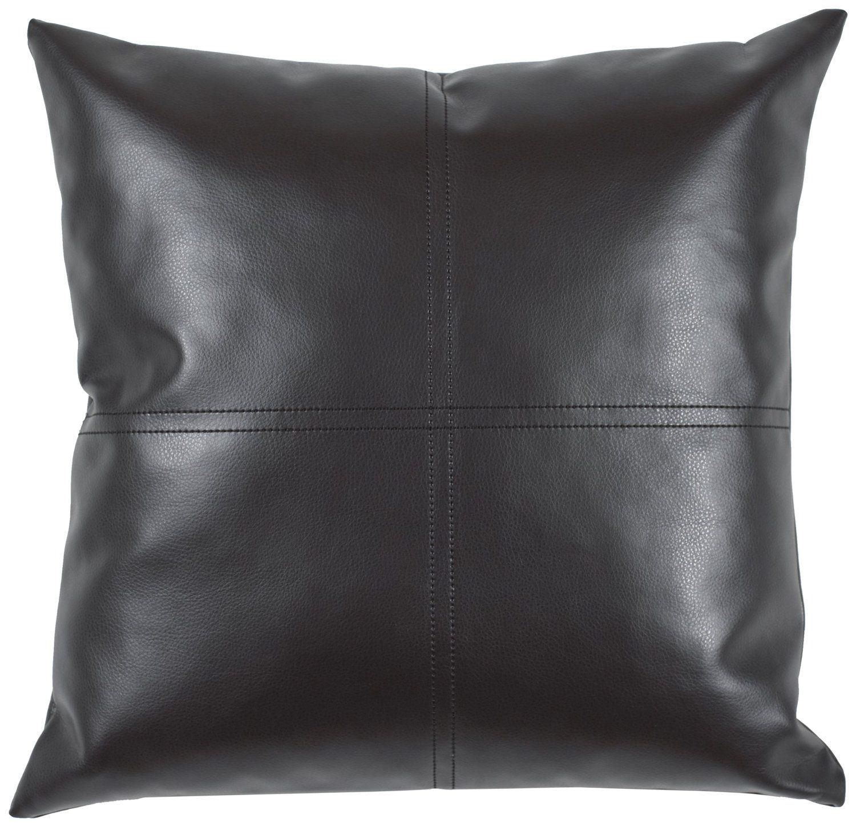 Robot Check Leather Throw Pillows Cushions On Sofa Throw Pillows