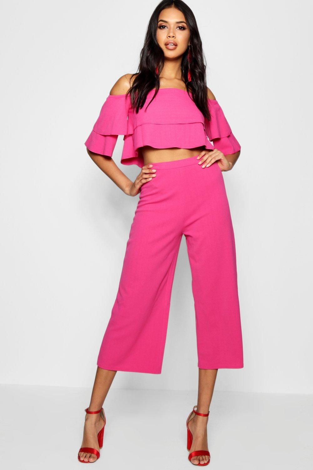 c3026efb8bfbec Double Bandeau Top   Culotte Co-Ord Set in 2019