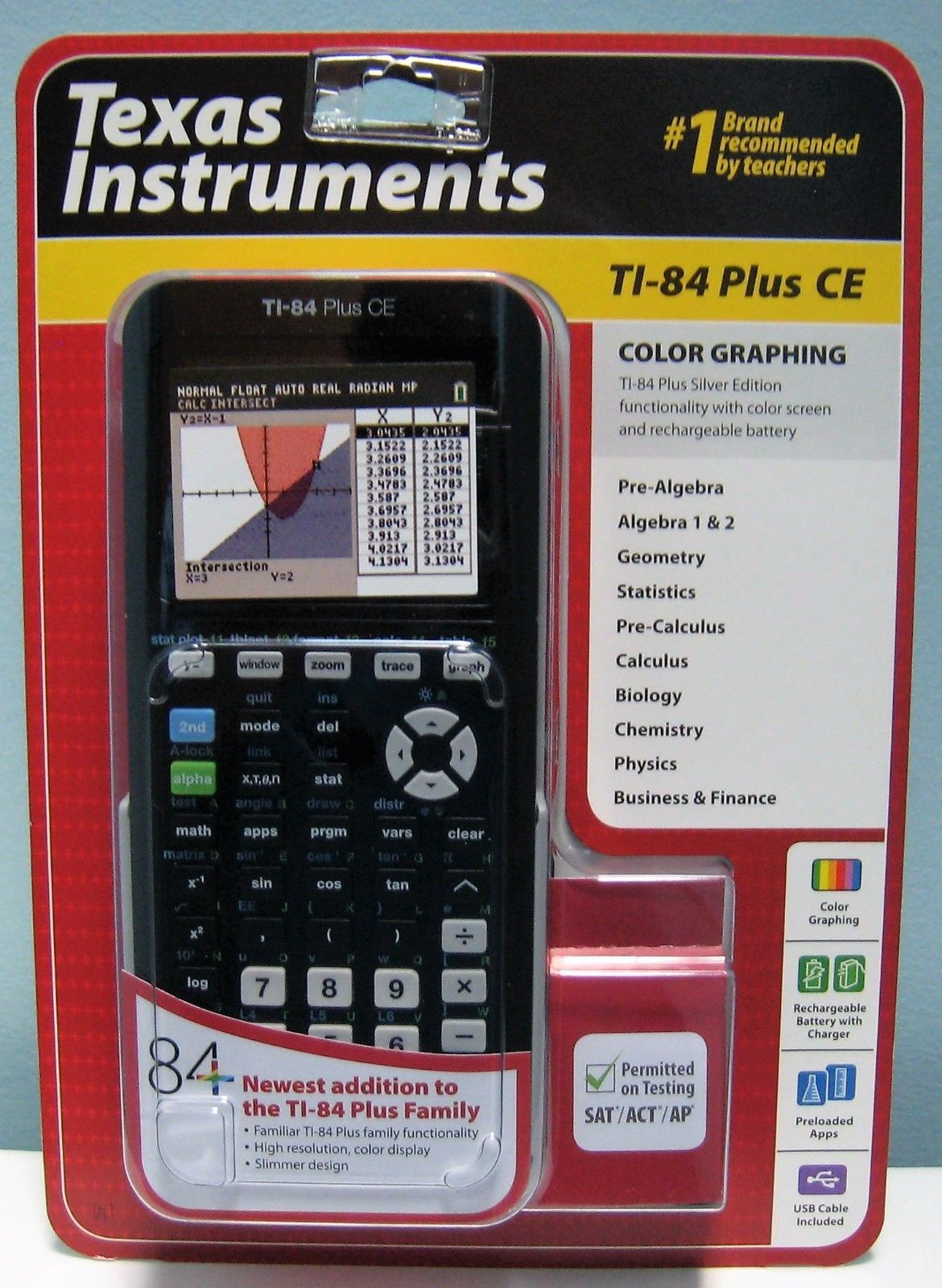 Texas Instruments Ti 84 Plus Ce Black Graphing Calculator