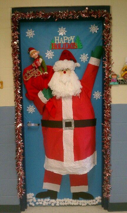 3d Santa Door Christmas Door Decorations Christmas Decorations Christmas Door