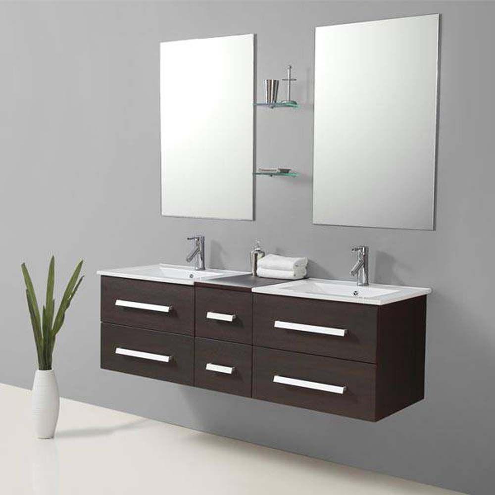 Riviera2 wenge meuble salle de bain conforama meuble - Meuble vasque salle de bain conforama ...