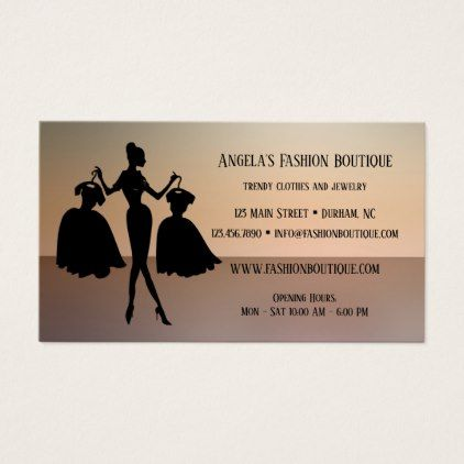 Ladies Fashion Retail Store Business Card Zazzle Com Stylist Business Cards Retail Store Retail