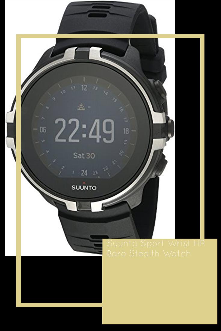 Suunto Sport Wrist Hr Baro Stealth Watch Stealth Sports Spartan Sports