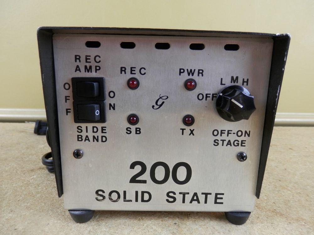Vintage Gray Bi Linear Ham Radio Base Station Amplifier Amp