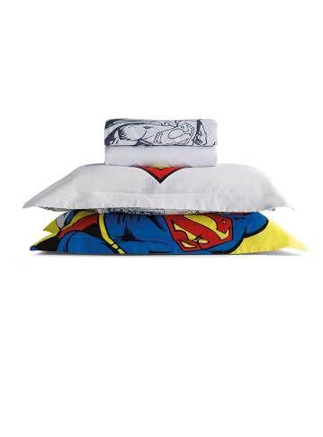 Still de jogo de cama casal super homem
