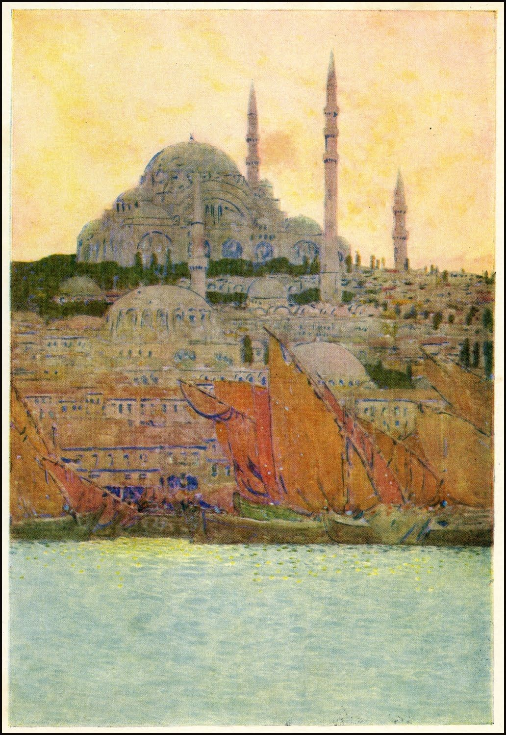 Robert Hichens, The Near East : Dalmatia, Greece and Constantinople, illustrated by Jules Guerin, 1913