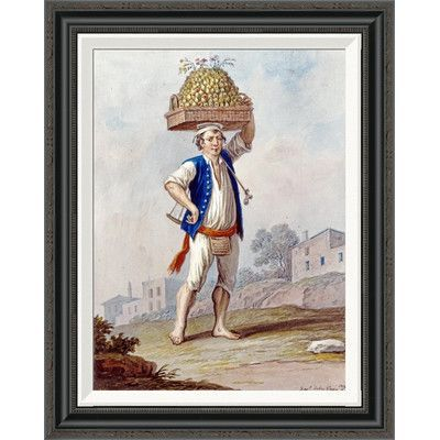"Global Gallery 'Costume Studies' by Xavier Della Gatta Framed Painting Print Size: 28"" H x 21.93"" W"