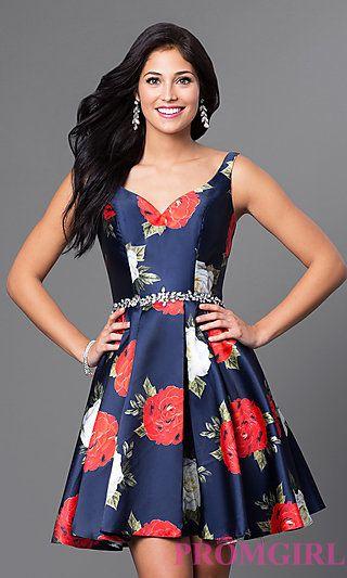 Flower Dresses at PromGirl.com
