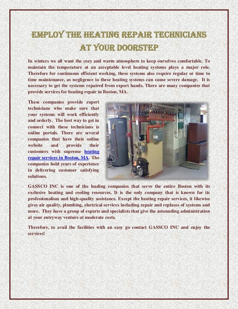 Employ The Heating Repair Technicians At Your Doorstep Http Www