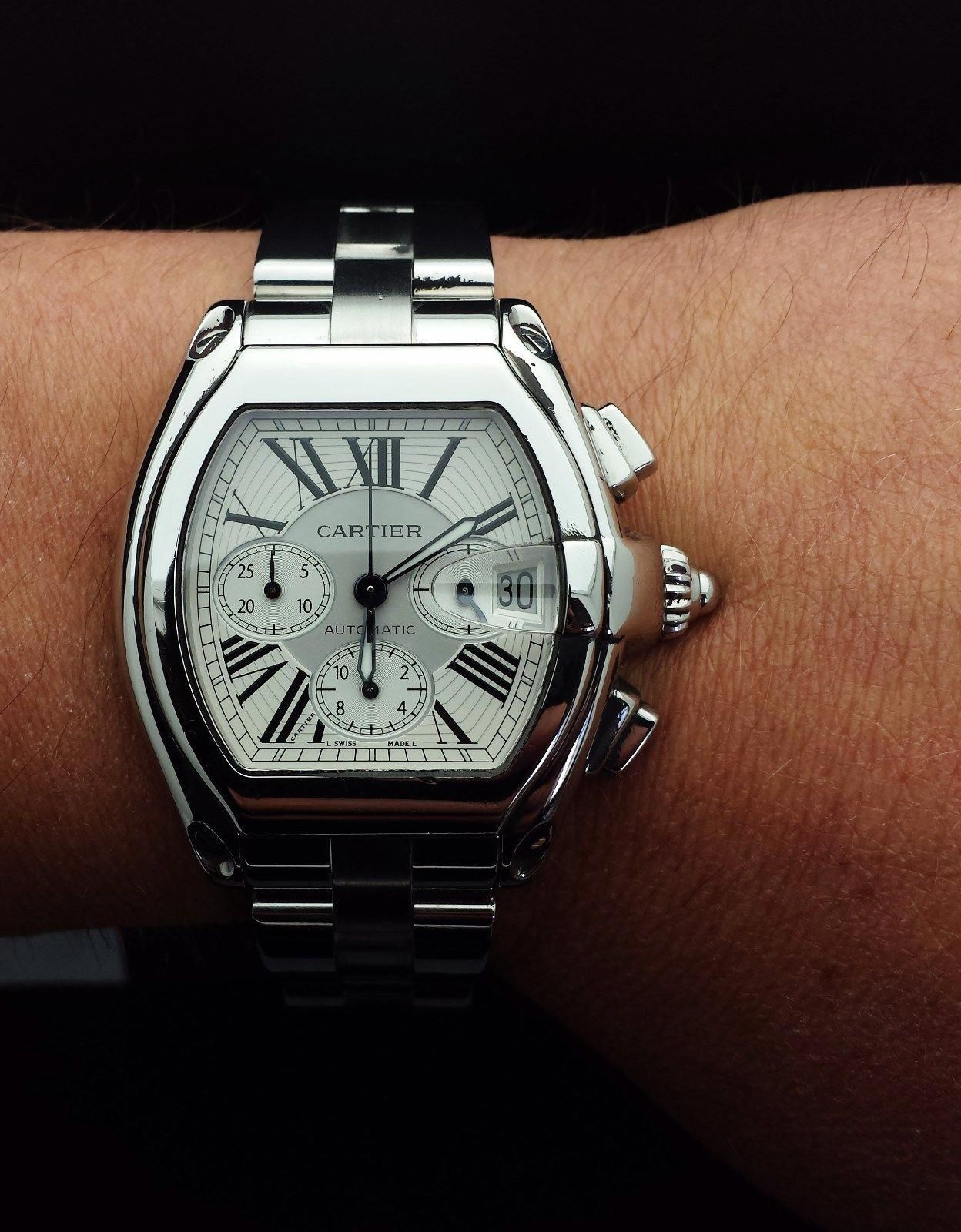 Authentic Cartier Roadster Wrist Watch For Men Ebay Cartierwatches Cartier Roadster Watches For Men Cartier Watches Mens