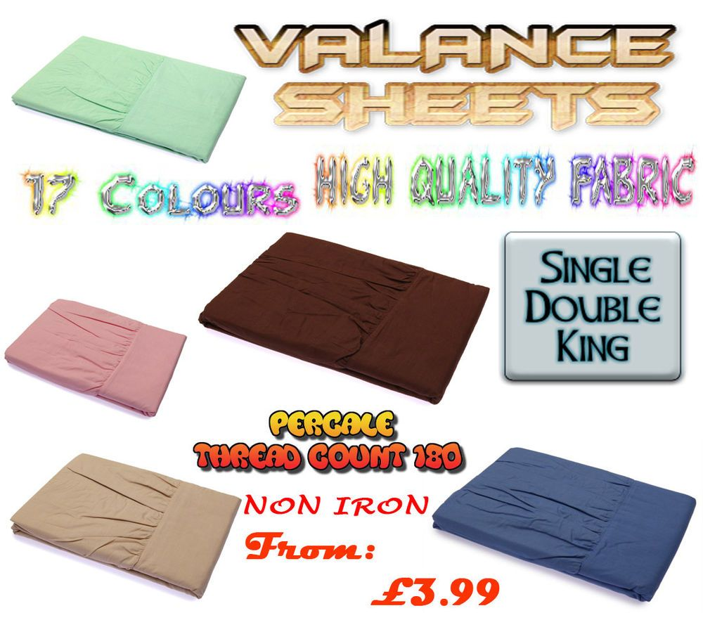 Details about fitted valance sheet non iron percale pillow