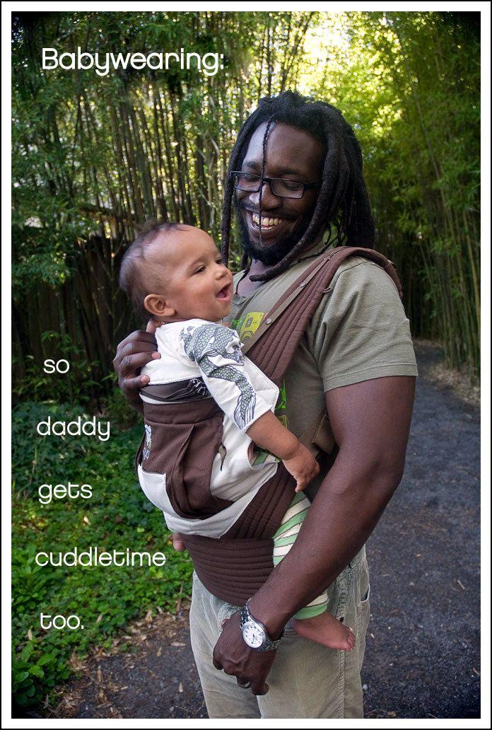 Daddy cuddle time