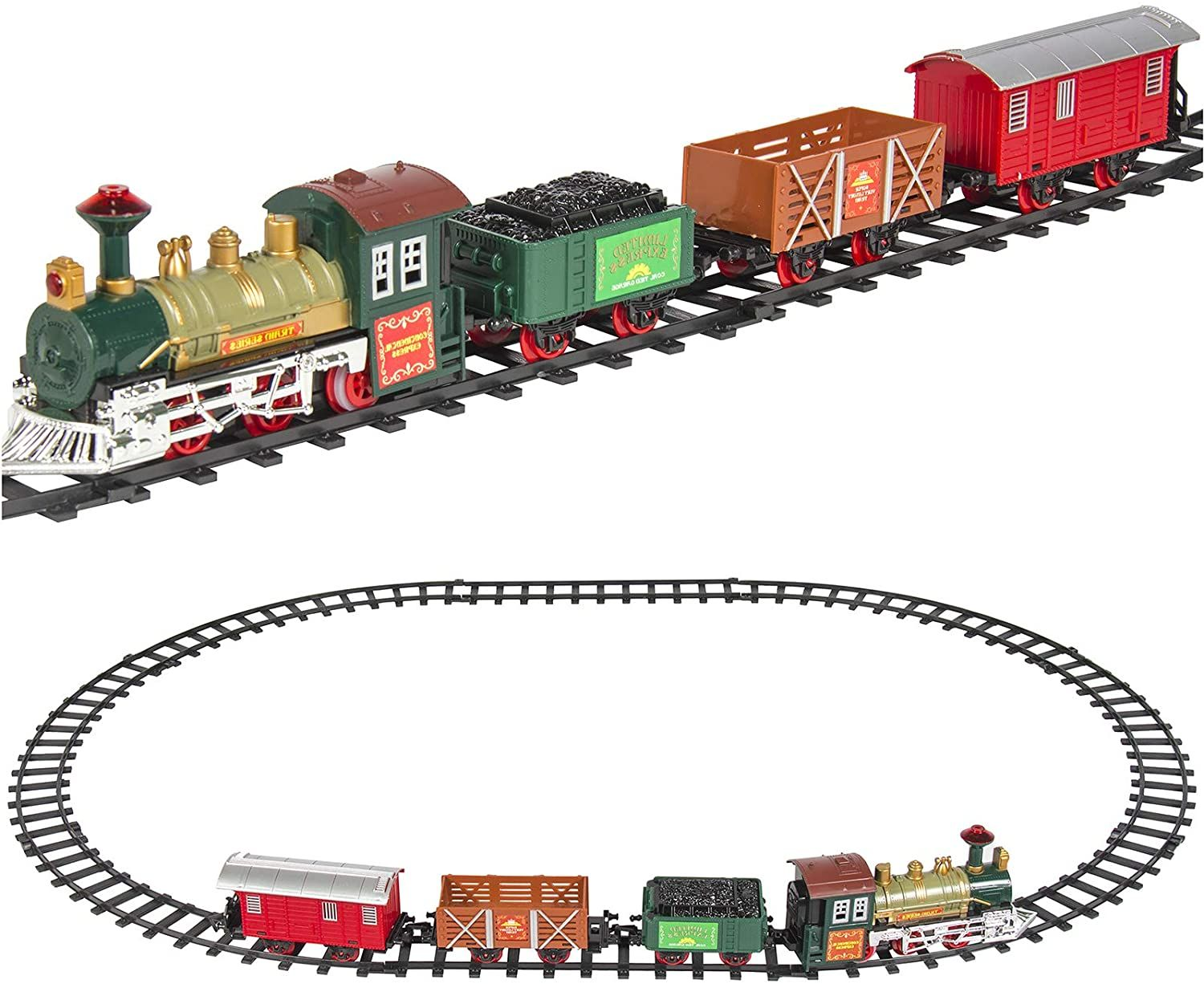 Best Choice Products Kids Classic Electric Railway Train Car Track Play Set Toy W Music And Lights In 2021 Model Trains Model Train Sets Model Railroad