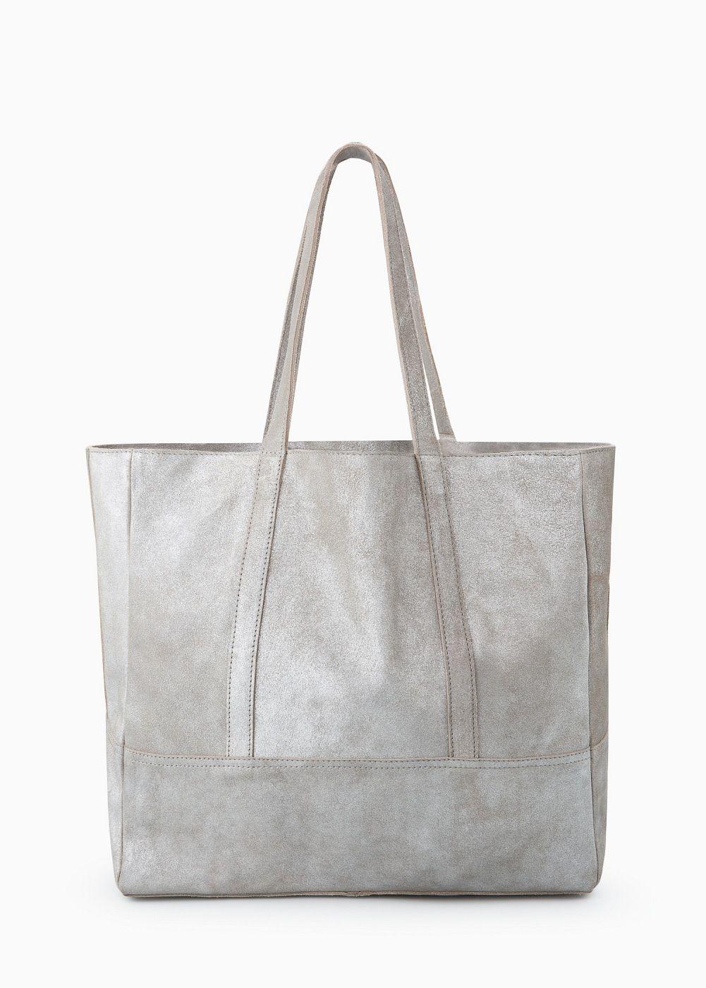 698d2950a5d4c Wildleder-Shopper. Wildleder-Shopper Tasche Grau ...