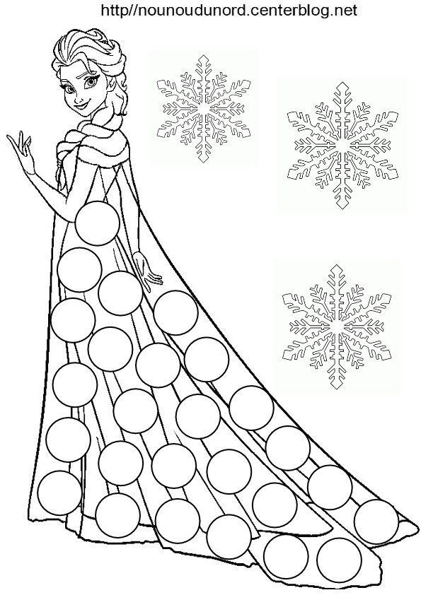Reine des neiges pour les gommettes reine des neiges toutes activit s gommette coloriage - Jeux princesse des neiges ...