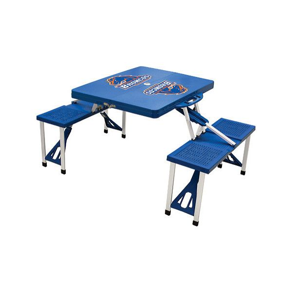 Picnic Time Folding Table Boise State Broncos   Blue ($120) ❤ Liked On  Polyvore