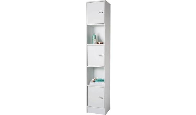 Buy Argos Home Tall Bathroom Storage Unit White Bathroom Shelves And Storage Units Bathroom Storage Units White Bathroom Furniture Tall Bathroom Storage