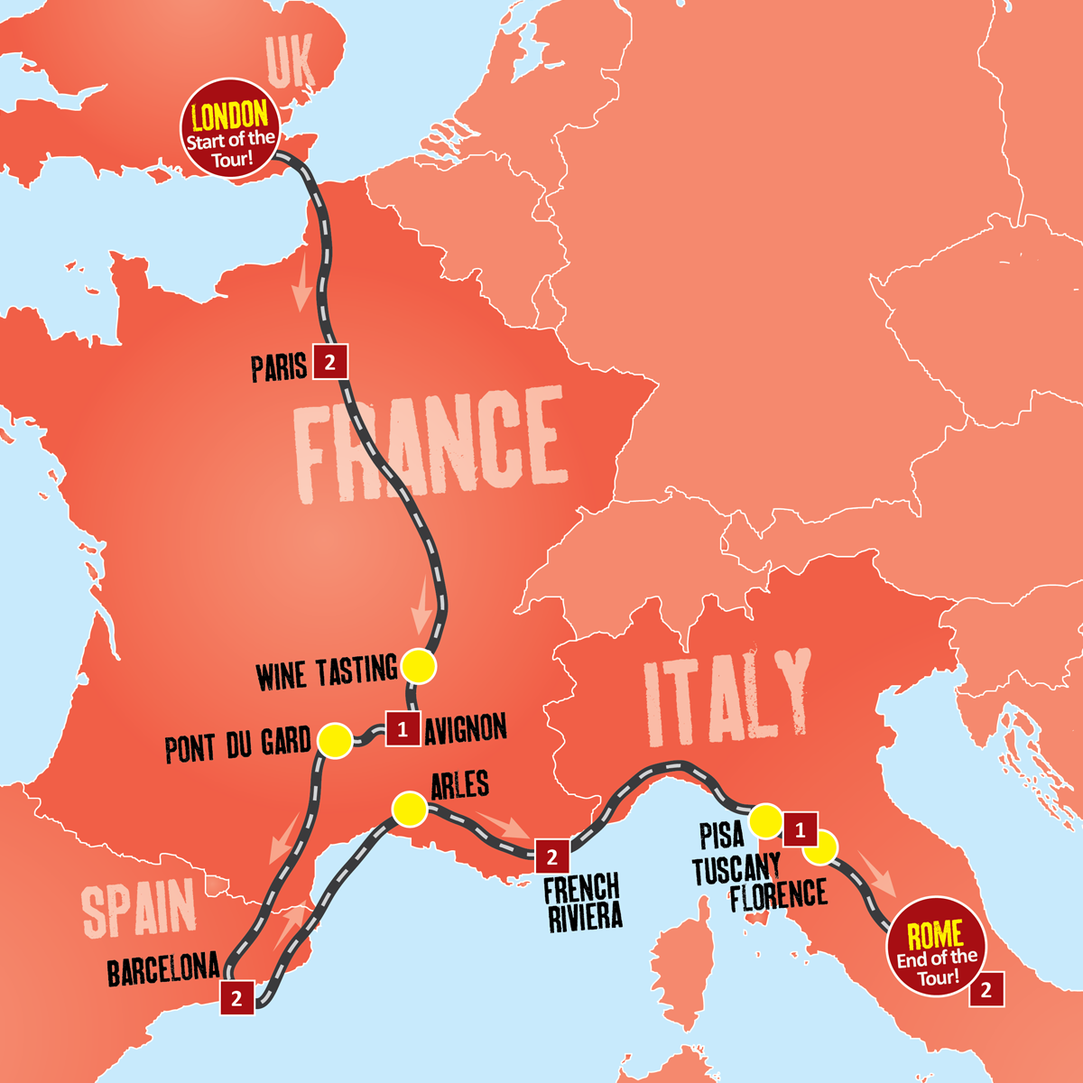 the london to rome tour from expat explore offers the best way to take in some