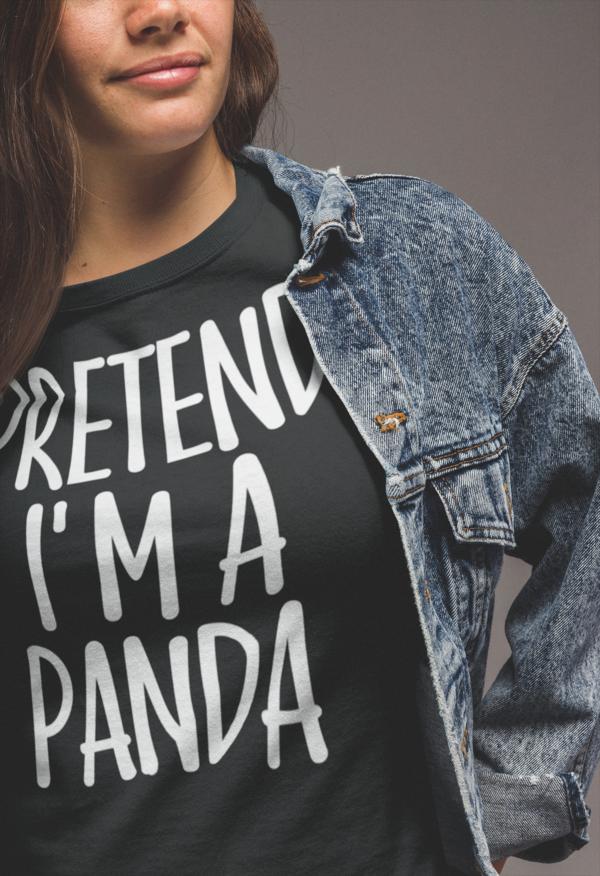 Pretend I'm Panda T-Shirt Lazy Costume Gift #mamp;mcostumediy