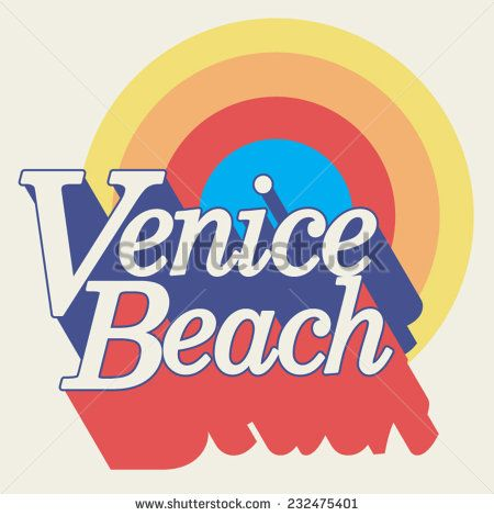 Image by Shutterstock Retro Surfing 70S Venice Graphic Men/'s Tee