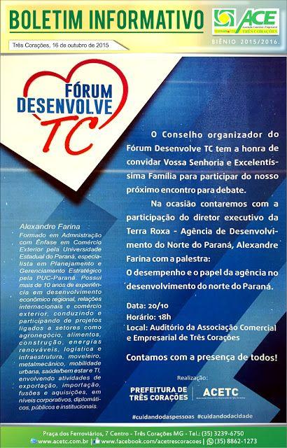 Folha do Sul - Blog do Paulão no ar desde 15/4/2012: BOLETIM ACE: FÓRUM DESENVOLVE TC