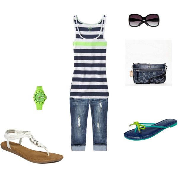 """""""green"""" by bethanywebb on Polyvore - The perfect summer casual outfit!"""