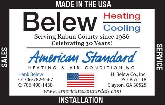 Serving Rabun County Since 1986 Celebrating 30 Years Hank Belew C
