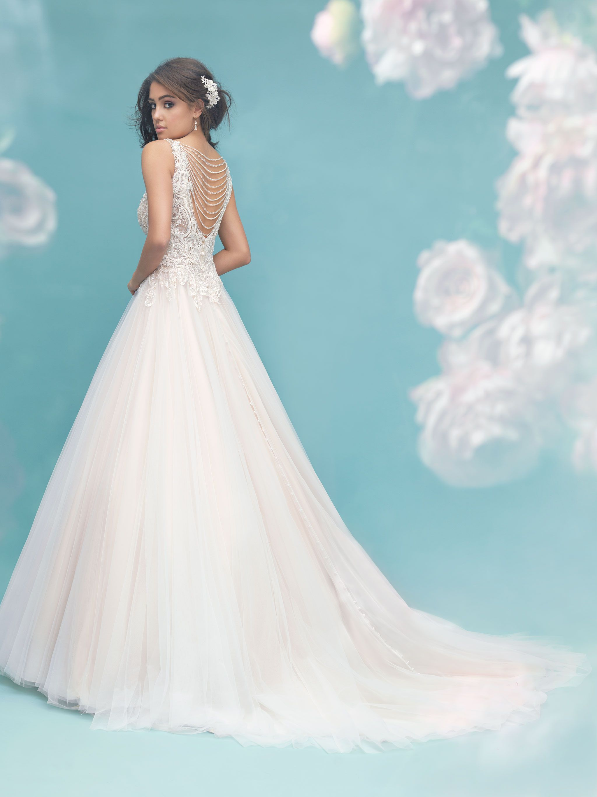 9459 This multilayered tulle ballgown is a dream come true, with ...
