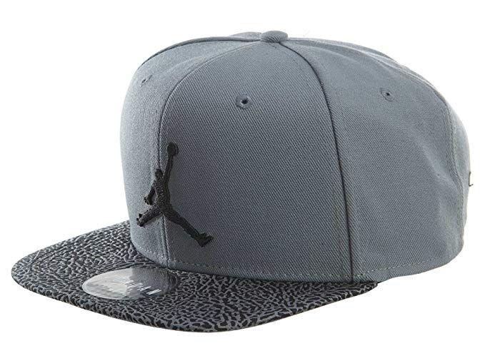 54ad1090e6efb8 Nike Mens Air Jordan Elephant Bill Snapback Hat Cool Grey Black 834891-065  Review